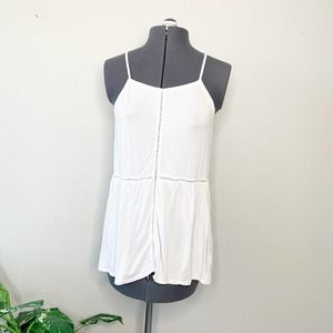 American Eagle Soft & Sexy White Tank Top S